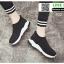 รองเท้าผ้าใบทรงสวม ทรงยอดฮิต F02-BLK [สีดำ] thumbnail 4