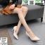 รองเท้าคัชชูหนังลายวัว K9080-CRM [สีครีม] thumbnail 3