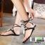 รองเท้าแตะส้นแบน jelly sandals TIT01-BLK [สีดำ] thumbnail 3