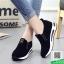 รองเท้าผ้าใบไร้เชือกสีดำ แนวสตรีท (สีดำ ) thumbnail 5