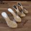 รองเท้าส้นสูงแบบสวม 099-WHI [สีขาว] thumbnail 4