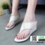 รองเท้าลำลองส้นเตารีด แบบคีบ 915-107-CRE [สีครีม] thumbnail 1