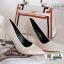 รองเท้าคัชชูส้นสูงหัวแหลมนำเข้า วัสดุผ้าซาติน BJJ-0001-CRE [สีครีม] thumbnail 5