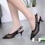 รองเท้าส้นสูงรัดส้น dior ผ้าตาข่าย 279-13-BLK [สีดำ] thumbnail 3