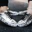 รองเท้าผ้าใบ Flashion หนัง PU-silver 558 [สีเงิน] thumbnail 3