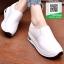 รองเท้าผ้าใบทรงมัฟฟินสีขาว สไตล์เกาหลี (สีขาว ) thumbnail 2