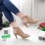 รองเท้าส้นสูงหน้าเต็ม งานสไตล์ปราด้า รัดข้อ 1202-ครีม [สีครีม] thumbnail 2