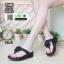 รองเท้าสุขภาพ ฟิทฟลอปหนีบ แต่งดอกไม้ F1080-BLK [สีดำ] thumbnail 1