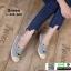 รองเท้าผ้าใบแคนวาส งานปักน่ารัก L-345-380-GRN [สีเขียว] thumbnail 1