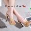รองเท้าส้นสูงสวมสไตล์แบรนด์ดัง 17-2314-BRN [สีน้ำตาล ]