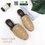 รองเท้าเปิดส้น สไตล์แบรนด์ GUCCI 2015-246-KHA [สีกากี]