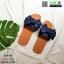 รองเท้าแตะผ้าซาติน แต่งโบว์ G-1409-BLU [สีน้ำเงิน] thumbnail 5
