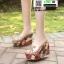 รองเท้าแบบสวมส้นเตารีด ST5117-GLD [สีGLD] thumbnail 1
