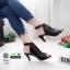 รองเท้าส้นสูงหน้าเต็ม งานสไตล์ปราด้า รัดข้อ 1202-ดำ [สีดำ] thumbnail 1