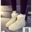 รองเท้าบูทหนังสีดำ บุขนนิ่ม กันหนาว (สีดำ ) thumbnail 3