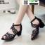 รองเท้าหุ้มส้นเปิดหน้า งานนำเข้า100% ST503-BLK [สีดำ] thumbnail 2