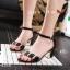 รองเท้าส้นเหลี่ยมรัดข้อ 17-2310-BLK [สีดำ] thumbnail 1