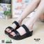 รองเท้าส้นเตารีด style fitflop F1109-BLK [สีดำ]