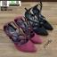 รองเท้าคัชชูรัดข้อส้นเข็ม ST1860-MAR [สีเลือดหมู] thumbnail 5