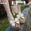 รองเท้าแบบสวมส้นเตารีด ST02-CRM [สีครีม] thumbnail 2