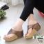 รองเท้าเตารีด เสริมส้นหูคีบ พื้นลายตาราง โลโก้ลาคอส 1108-น้ำตาล [สีน้ำตาล ] thumbnail 3