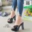 รองเท้าส้นสูงเปิดส้นสีดำ Muless Heels Shoes (สีดำ ) thumbnail 2