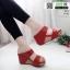 รองเท้าเตารีด Wedge shoe 2 ตอนหุ้มส้น 1146-แดง [สีแดง] thumbnail 1