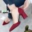 รองเท้าส้นสูงหัวแหลมนำเข้า HXY-0003-RED [สีแดง] thumbnail 3