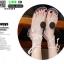 รองเท้าแตะส้นแบน jelly sandals TIT01-WHI [สีขาว] thumbnail 2