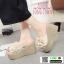 รองเท้าส้นสูง แบบสวม ส้นโฟม PU6008-CRM [สีครีม] thumbnail 1