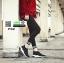 รองเท้าผ้าใบหมุดเงิน F02-SIL [สีเงิน] thumbnail 4