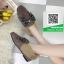 รองเท้าคัทชูแฟชั่น สไตล์เกาหลี ทรงหัวตัด แต่งโบว์เพชร (สีดำ ) thumbnail 6