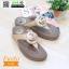 รองเท้าสุขภาพ ฟิทฟลอปหนีบ แต่งดอกไม้ F1080-GLD [สีทอง] thumbnail 4