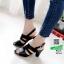 รองเท้าส้นสูงเปิดส้น 10164-ดำ [สีดำ] thumbnail 2