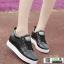รองเท้าผ้าใบสปอร์ท หนัง pu SG-136-BLK [สีดำ] thumbnail 5