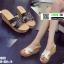 รองเท้าแตะสวมส้นเตารีด วัสดุหนังนิ่ม 9999-WHI [สีขาว] thumbnail 3