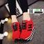 รองเท้าผ้าใบเสริมส้นสไตล์เกาหลี IH SB1084-RED [สีแดง] thumbnail 1