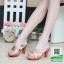 รองเท้าส้นสูงแบบสวม PF2304-CRE [สีครีม] thumbnail 1