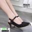 รองเท้าส้นสูงเปิดส้น รัดข้อ B3715-11-BLK [สีดำ] thumbnail 1