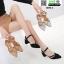 รองเท้าคัทชู รัดส้น ส้นสูง B89-3-BLACK [สีดำ ] thumbnail 3