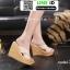 รองเท้าส้นเตารีด สไตล์เกาหลี 17-2288-CRM [สีครีม] thumbnail 4