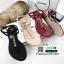 รองเท้าแตะวัสดุหนังนิ่มแบบคีบ Style Chanel 5534-แดง [สีแดง] thumbnail 2