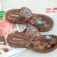 รองเท้าแตะแฟชั่นสีน้ำตาล Flowery Sandals (สีน้ำตาล ) thumbnail 4