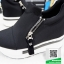 รองเท้าผ้าใบเสริมส้นสีดำ ทรงมัฟฟิน ดีไซน์เท่ๆ (สีดำ ) thumbnail 6