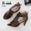 รองเท้าส้นสูง ซิปหลัง 350-209-ครีม [สีครีม] thumbnail 3
