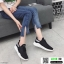 รองเท้าผ้าใบแฟชั่นงานผ้าระบายอากาศ 1718-BLK [สีดำ] thumbnail 3