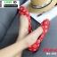 รองเท้าคัชชูหนังนิ่ม สไตล์แบรนด์ดัง LV flats B6-610-RED [สีแดง]