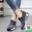 รองเท้าผ้าใบไร้เชือกสีเทา แนวสตรีท (สีเทา ) thumbnail 3