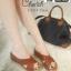 รองเท้าเตารีดแบบสวม วัสดุหนังpu V103-TAN [สีแทน]