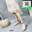 รองเท้าแตะสีน้ำตาล ดีไซน์โซ่ตรงข้อเท้าและใต้เข่า (สีน้ำตาล )